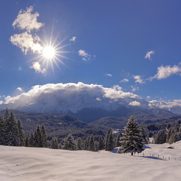 Elmau, Winter, Sonne