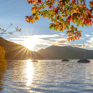 Walchensee, Sonnenaufgang, See, Morgen, Boote