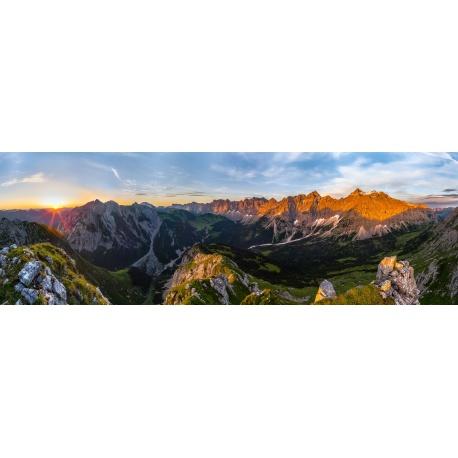 Karwendelhauptkamm Leinwandfoto