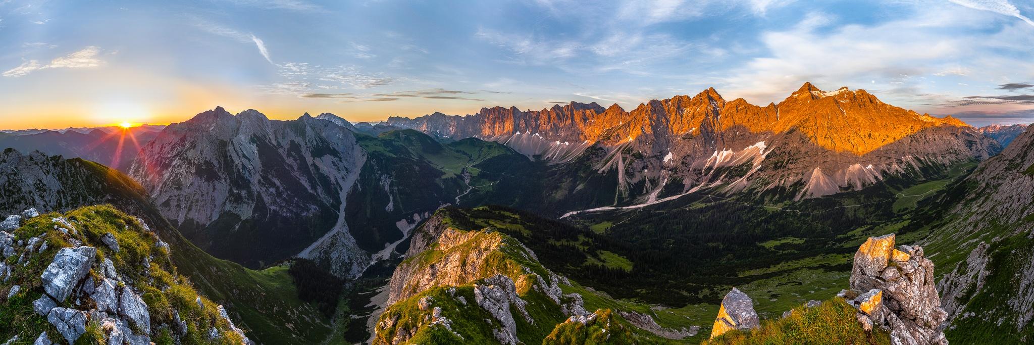 Sonnenaufgang, Karwendelhauptkamm, Vomper, Kette