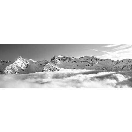 Soiernspitze, Soierngruppe, Krapfenkarspitze, Wolken, schwarz, weiß, Berglandschaft, Karwendelgebirge