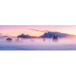 Nebelstimmung über Wallgau Abendrot