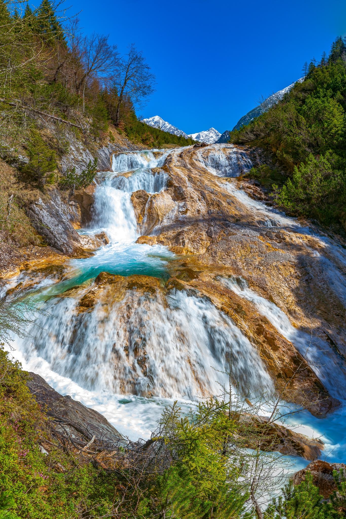 Karwendelbach, Wasserfall, Karwendelgebirge