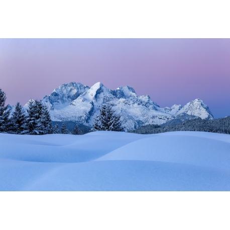 Buckelwiesen im Winter - Berglandschaft