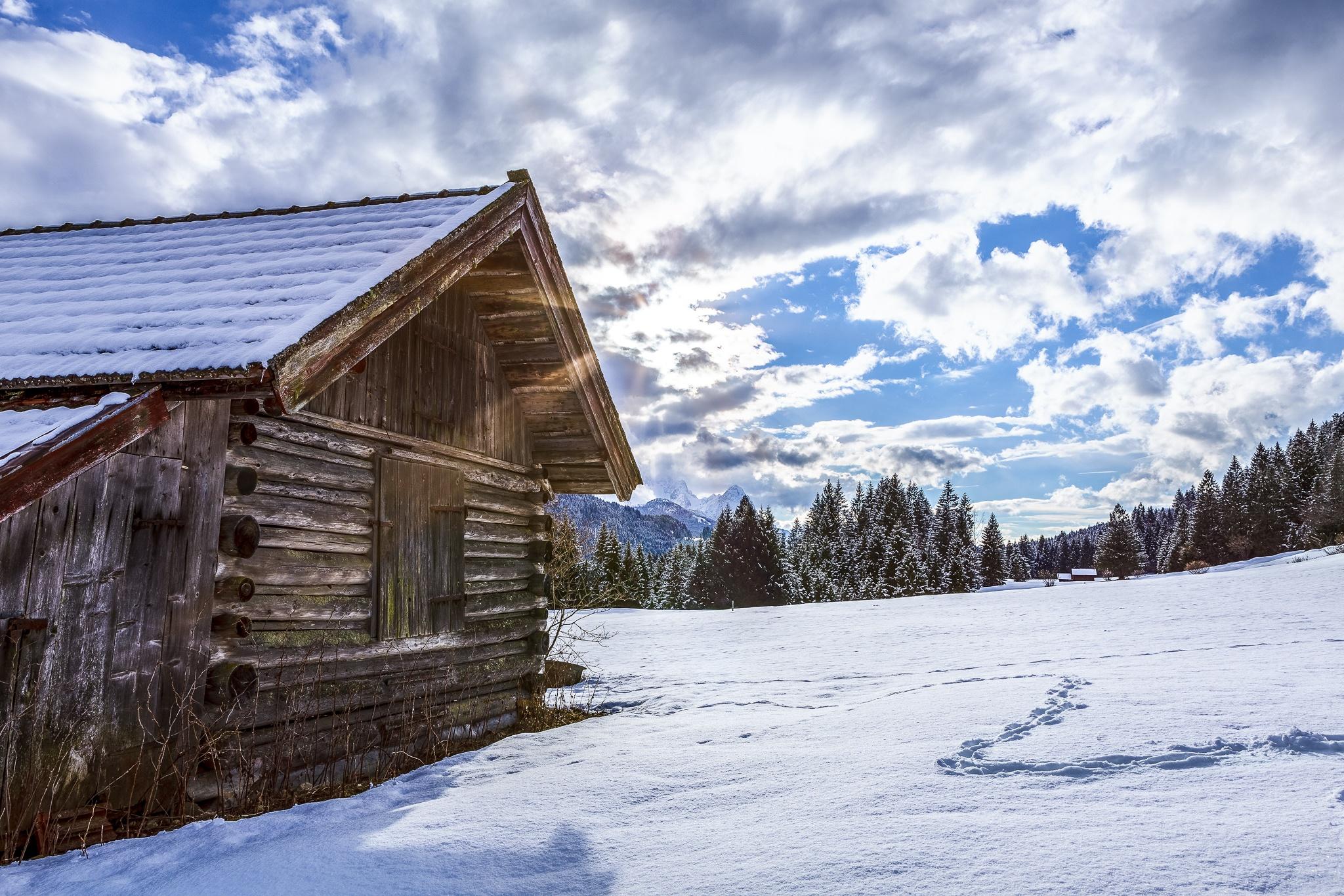 Stadel in Gerold - Winterbild
