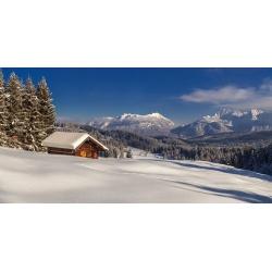 Elmauer-Alm Wintertraum Landschaft Karwendel