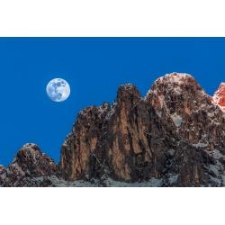 Vierer mit Mond - Vollmond bei Abendrot