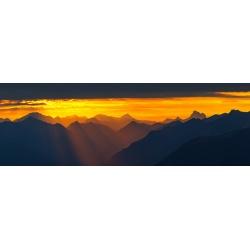 Lichtblick über Garmisch-Partenkirchen Berge