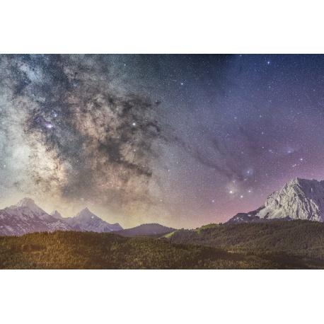 Galaktisches, Zentrum, Galaktisches Zentrum, Landschaft, Sterne, Sternenhimmel, Nacht, Nachtaufnahme, Mittenwald, Kranzberg