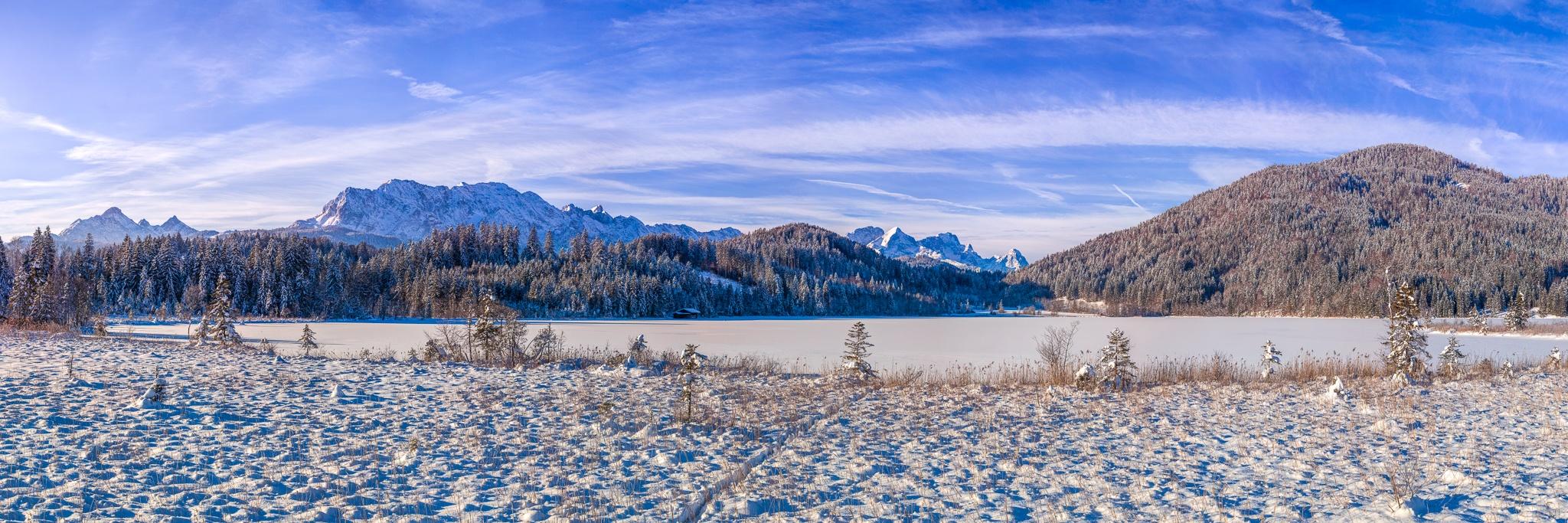 Barmsee, Winter, Schnee