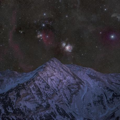 Soierngruppe, Nacht, Nachtaufnahme, Sterne, Sternenhimmel, Berg, Winter