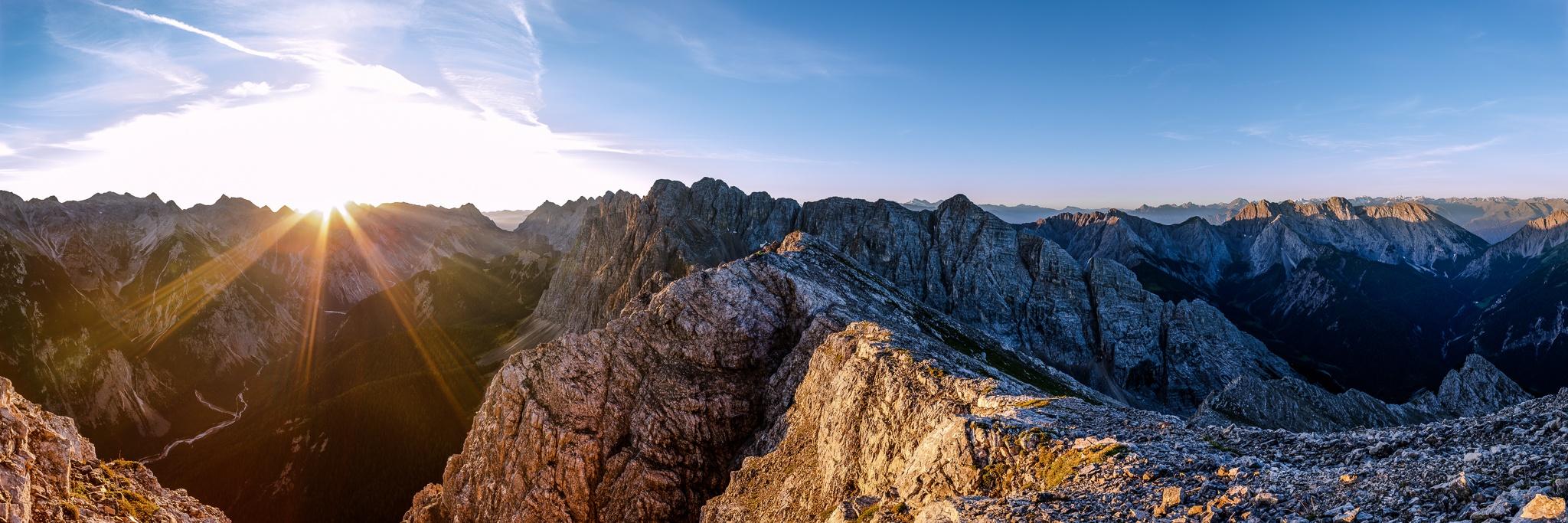 Karwendel, Sonnenaufgang, Gleirsch, Berglandschaft, Karwendelgebirge