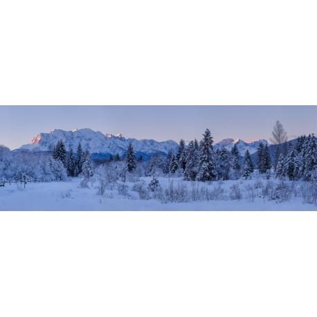Winterlandschaft im Isartal
