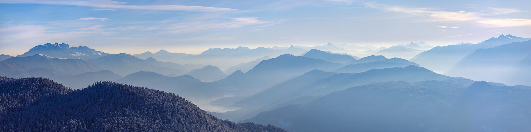 Walchensee, Berge, blaue, Panorama, Bergpanorama