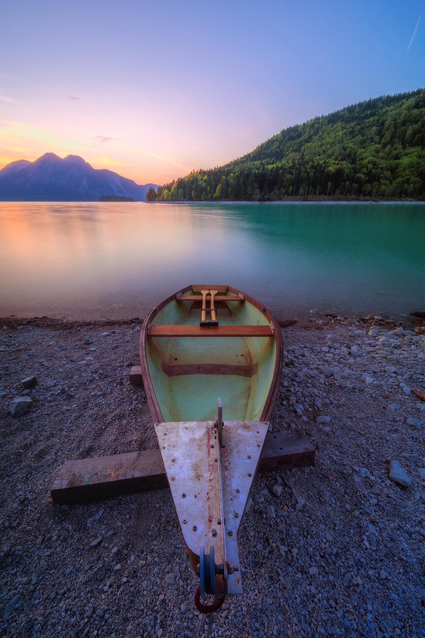 Boot am Walchensee