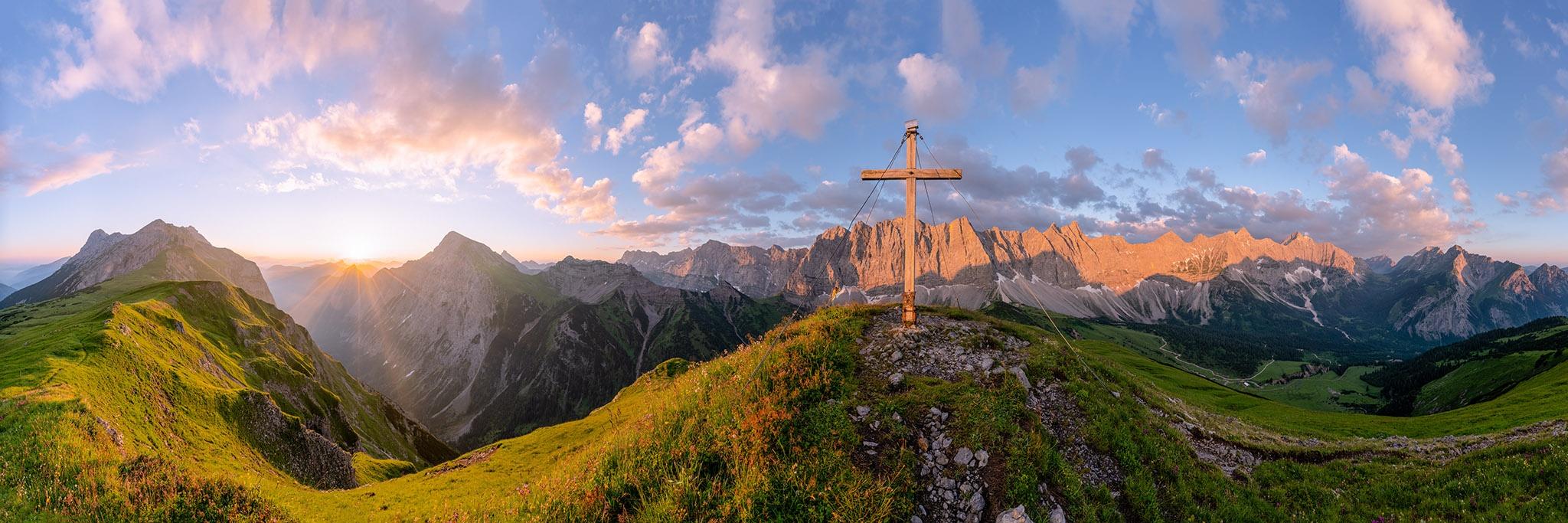 Karwendel, Sonnenaufgang, Herrgottswinkel, Berglandschaft, Karwendelgebirge