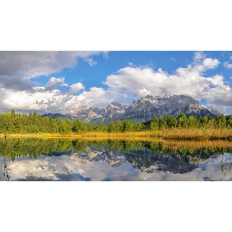 Luttensee, See, Spiegelung, Kranzberggebiet, Herbst, Mittenwald, Karwendel
