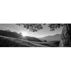 Garmisch-Partenkirchen Berge Panorama schwarz weiß
