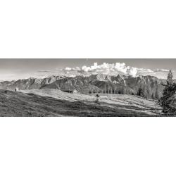 Karwendelgebirge Krüner Alm schwarz weiß