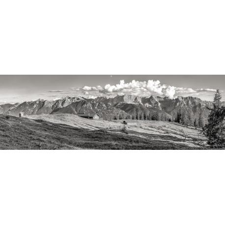 Krüner Alm, schwarz, weiß, weiss, Soierngruppe, Karwendelgebirge