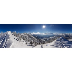 Wank Garmisch-Partenkirchen Panorama Winter
